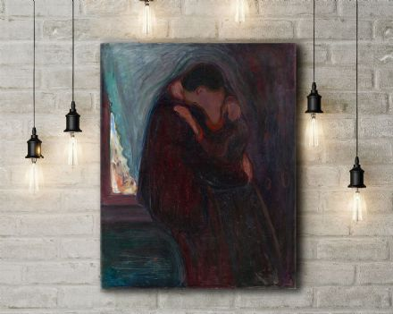 Edvard Munch: The Kiss. Fine Art Canvas.